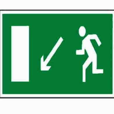Напрямок до евакуаційного виходу ліворуч вниз